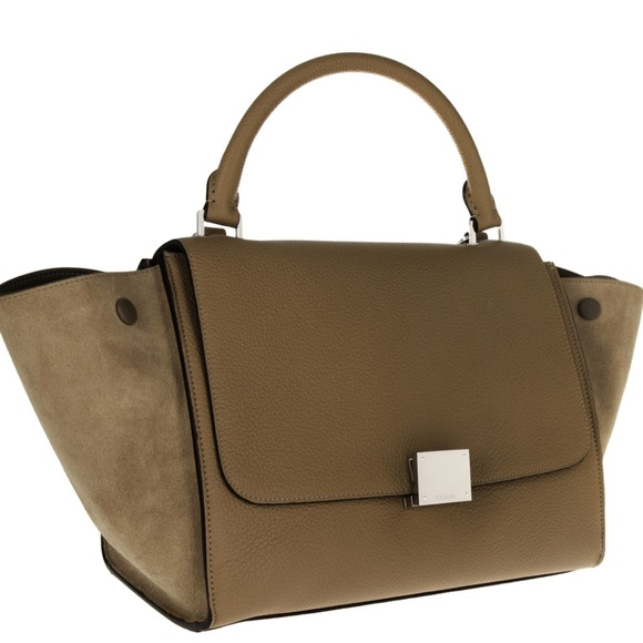 bddd225a8ea1 Celine Handbags - Celine Small Trapeze in Moss Green